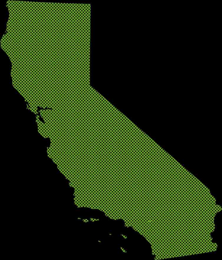 an outline of the state of California