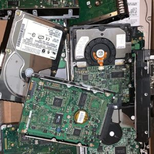 Residential Hardware Drives Prepared To Be Shredded